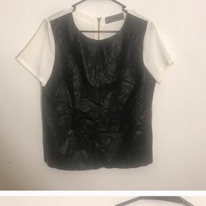 Wells grace leather top